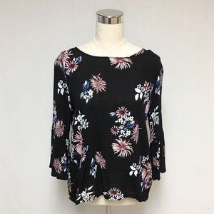 Daytrip Floral Boho Hippie Tie Back Top 10P